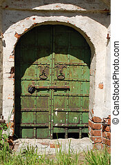 Ancient Church Locked Gate - Old locked gate of the ancient...