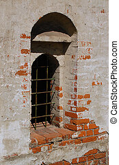 Ancient Church Window - Window of the ancient and uncared...