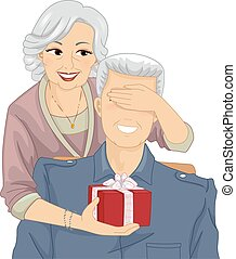 clipart de couple surpris personnes ag es surprised personnes csp10338222 recherchez. Black Bedroom Furniture Sets. Home Design Ideas
