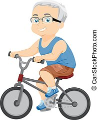 Senior Man Bike