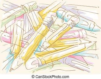 Pencils Crayons Sketches