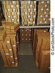 catron boxes in warehouse