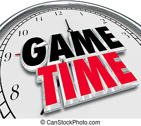 Game Time Clock Fun Enjoyment Playing Event - Game Time...
