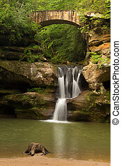 Upper Falls at Old Man's Cave, Hocking Hills State Park, Ohio.