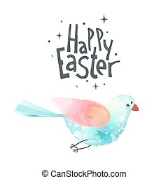 Easter Hand drawn design elements - Happy Easter. Unique...