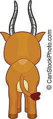 Gazelle Back - Cutesy Illustration Featuring the Back of a...