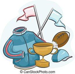 Memorabilia - Illustration Featuring Assorted Sports...