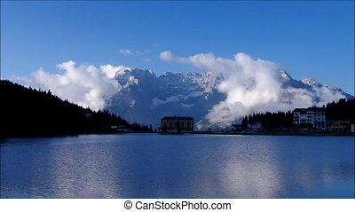 Lake Misurina in Dolomites