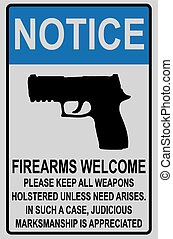 Welcome reminder for owners of firearms for offices and...