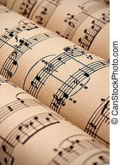 Rolls of sheet music public domain