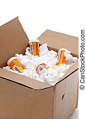 A box of imported prescription medication