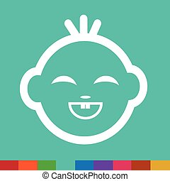 Baby Face Emotion Icon Illustration symbol design