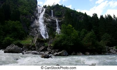 Nardis Waterfall in Alps, Italy