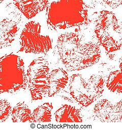 Seamless pattern with grunge red