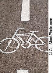 Bicycle Track in Tel Aviv, Israel