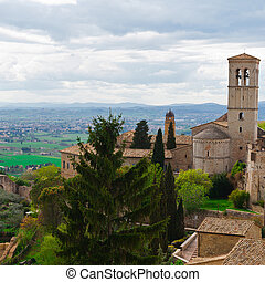 Assisi - View from Historic Center City of Assisi to the...