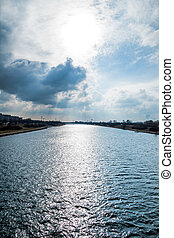 vienna, danube - seen the danube in vienna of the imperial...