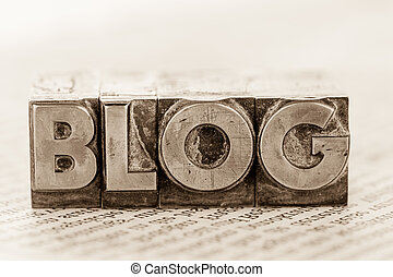 blog in lead letters - the word blog written with lead...