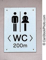 señal, baños, hombre, mujer,