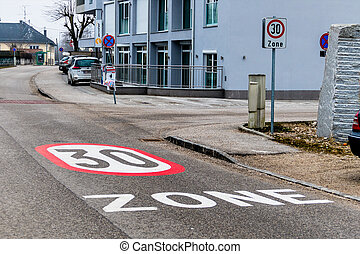tempo 30 zone in the city - traffic calming a...