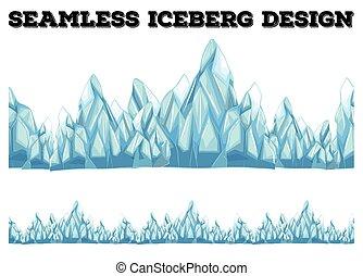Seamless iceberg design with high peaks illustration