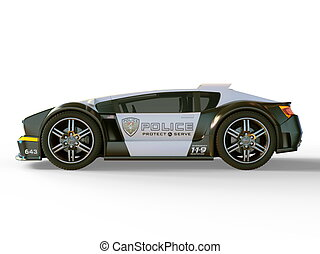 Police car - 3D CG rendering of a police car.