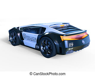 Police car - 3D CG rendering of a police car