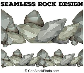 Seamless gray rock design illustration