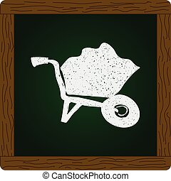 Simple doodle of a wheelbarrow - Simple hand drawn doodle of...