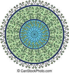 Colorful round ornate - Vector colorful round ornate