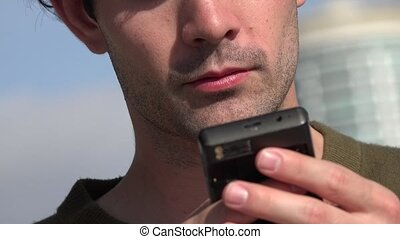 Man Using Cell Phone, Cellular, Mobile Phone