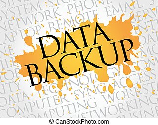 Data Backup word cloud concept