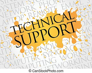 Technical support word cloud concept