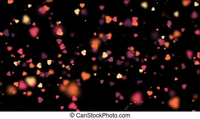 Valentines Hearts background 3 - valentine's day loopable...