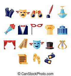 Theater Vector Illustration Set