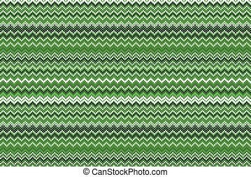 Zigzag pattern in wild green isolated on white