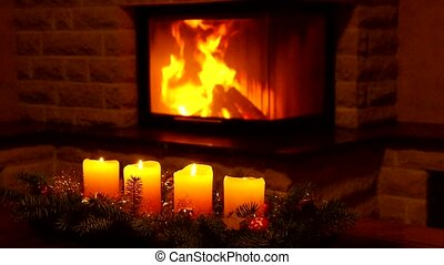 candles and chimney fire