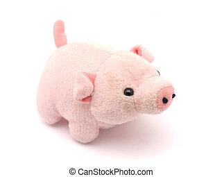 白色, 玩具, 軟, 背景, 豬