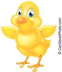 Easter Chick - A cute cartoon yellow Easter chick baby...