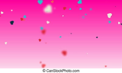 Valentines Hearts background 9 - valentine's day loopable...