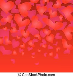 Valentines Day Background Vector Illustration Hearts in a...