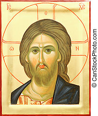 Icon of the Lord Jesus Christ - Representation of Jesus...