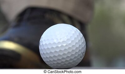 Golfer Putting with Golf Ball