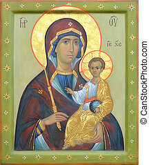 Mother of God Jesus Christ - The Icon a Mother of God Mary...