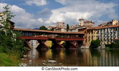 Bassano del Grappa Ponte Vecchio in northern Italy
