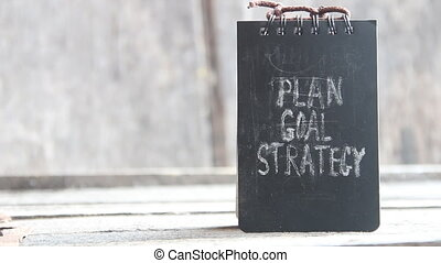 Plan, Goal, Strategy - The words Plan, Goal and Strategy -...