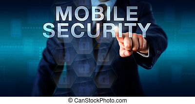 Supervisor Touching MOBILE SECURITY Onscreen - Supervisor is...