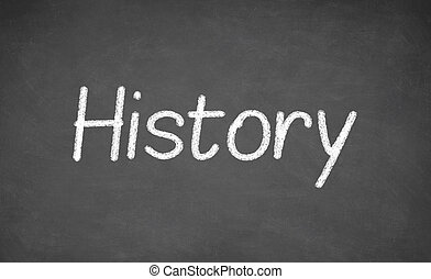History lesson on blackboard or chalkboard. - History lesson...