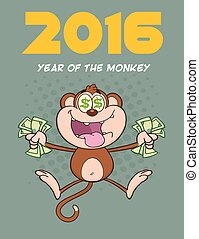 Rich Monkey Character Jumping