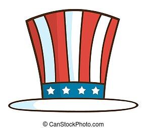 llustration Of Patriotic Hat - Cartoon Illustration Of...